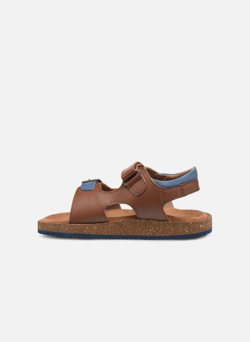 Sandales et nu-pieds Kickers Funkyo Marron vue face