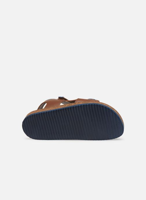 Sandales et nu-pieds Kickers Funkyo Marron vue haut