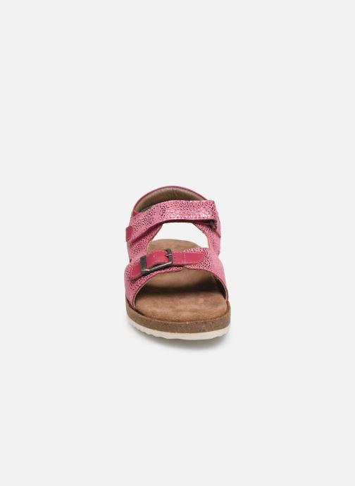 Sandales et nu-pieds Kickers Funkyo Rose vue portées chaussures