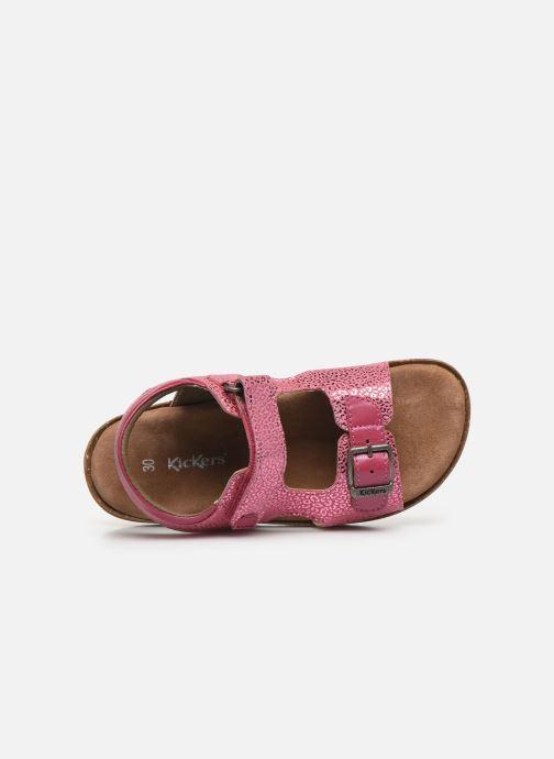 Sandales et nu-pieds Kickers Funkyo Rose vue gauche