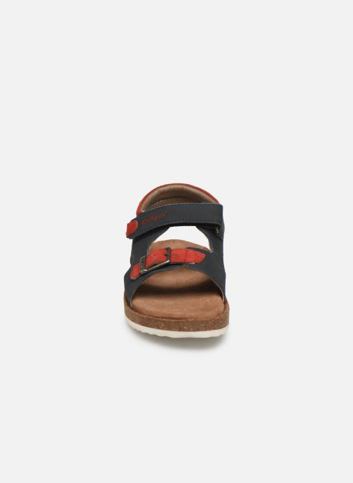 Sandales et nu-pieds Kickers Funkyo Bleu vue portées chaussures