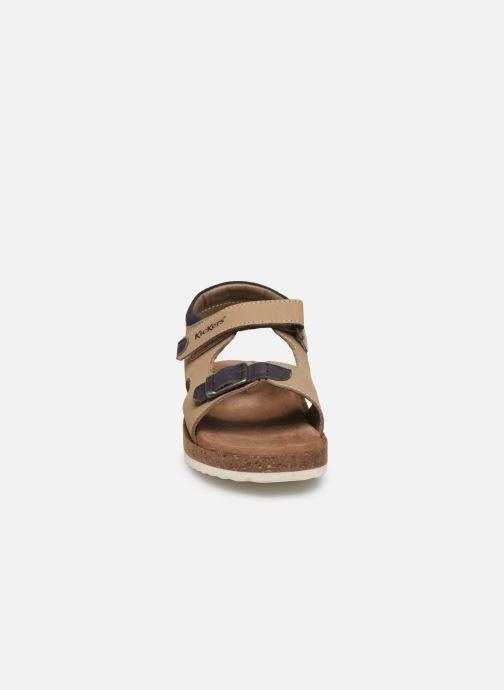 Sandales et nu-pieds Kickers Funkyo Beige vue portées chaussures