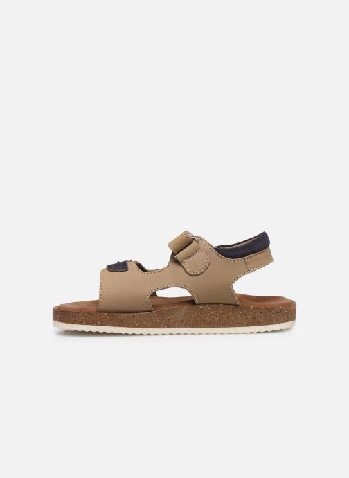 Sandales et nu-pieds Kickers Funkyo Beige vue face