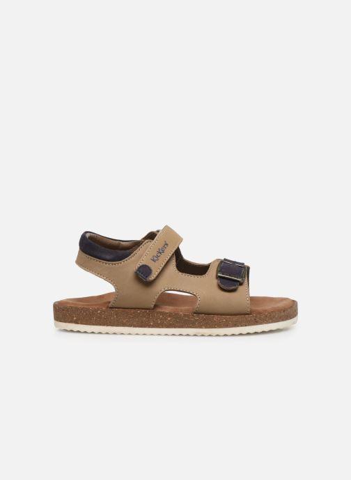 Sandales et nu-pieds Kickers Funkyo Beige vue derrière