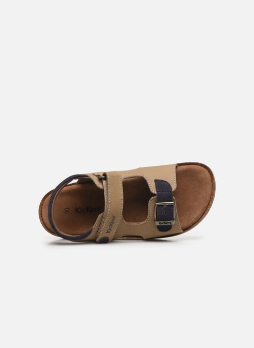 Sandales et nu-pieds Kickers Funkyo Beige vue gauche