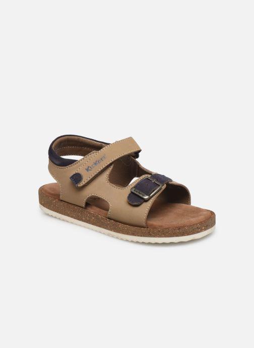 Sandales et nu-pieds Kickers Funkyo Beige vue détail/paire