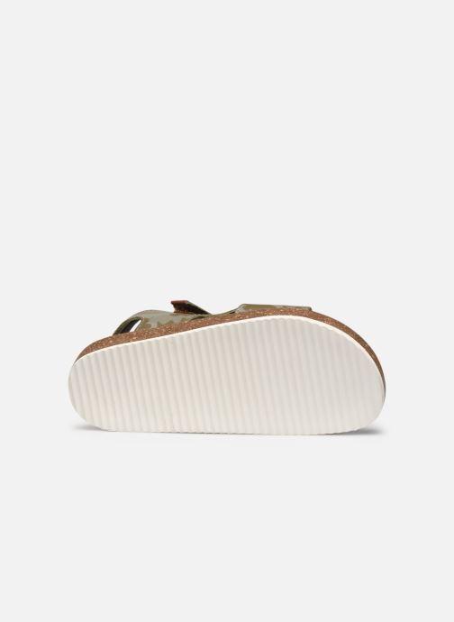 Sandales et nu-pieds Kickers Funkyo Vert vue haut