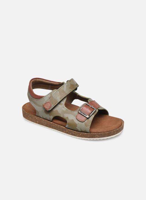 Sandales et nu-pieds Kickers Funkyo Vert vue détail/paire