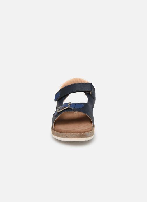 Sandalen Kickers Funkyo blau schuhe getragen