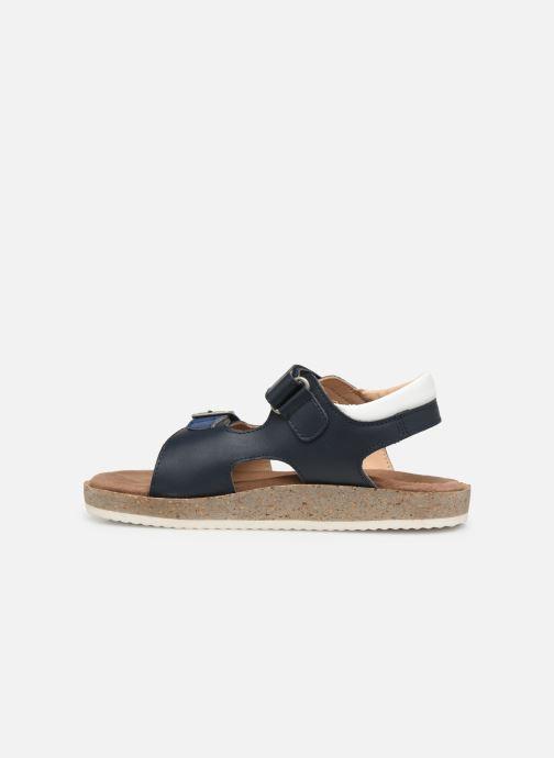 Sandalen Kickers Funkyo blau ansicht von vorne