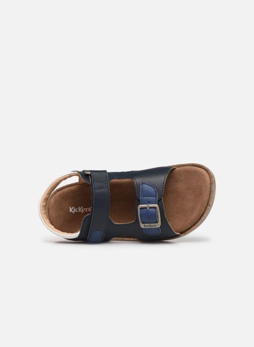 Sandalen Kickers Funkyo blau ansicht von links