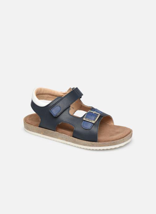 Sandales et nu-pieds Kickers Funkyo Bleu vue détail/paire