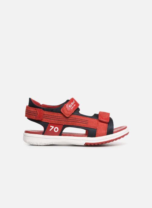 Sandalen Kickers Plane Rood achterkant