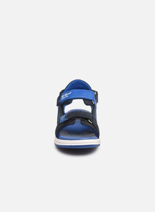 Sandales et nu-pieds Kickers Plane Bleu vue portées chaussures