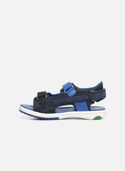 Sandales et nu-pieds Kickers Plane Bleu vue face