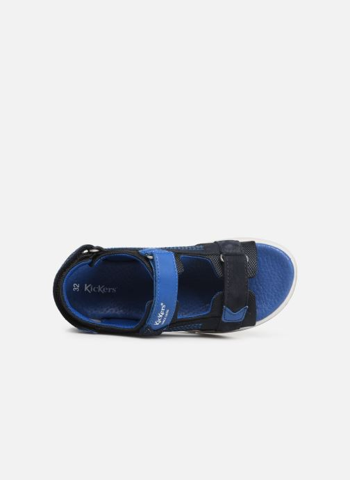 Sandales et nu-pieds Kickers Plane Bleu vue gauche