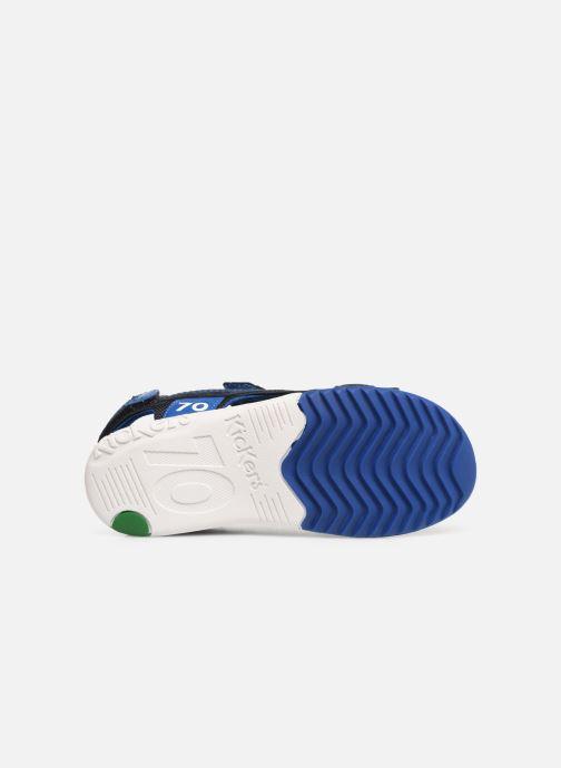 Sandales et nu-pieds Kickers Plane Bleu vue haut