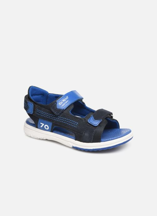 Sandales et nu-pieds Kickers Plane Bleu vue détail/paire