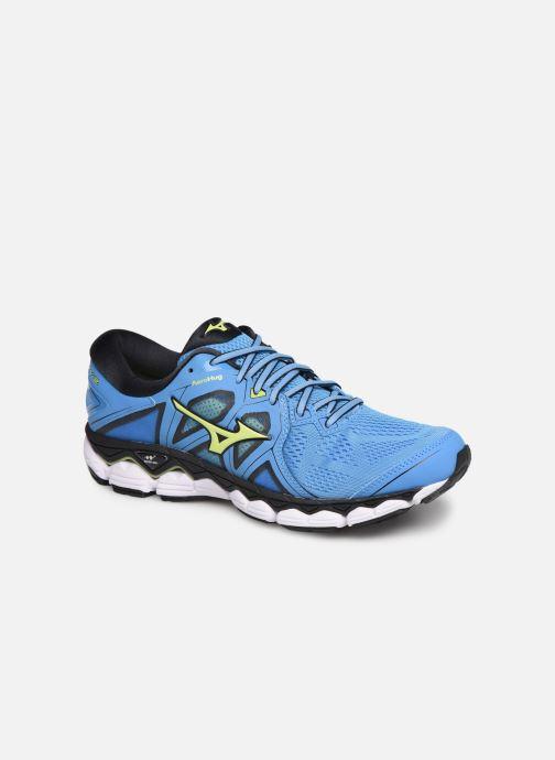 Chaussures de sport Mizuno Wave Sky 2 Bleu vue détail/paire
