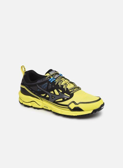 Chaussures de sport Mizuno Wave Daichi 4 Jaune vue détail/paire