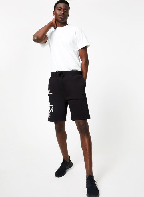 Vêtements Diadora Bermuda Bl Noir vue bas / vue portée sac