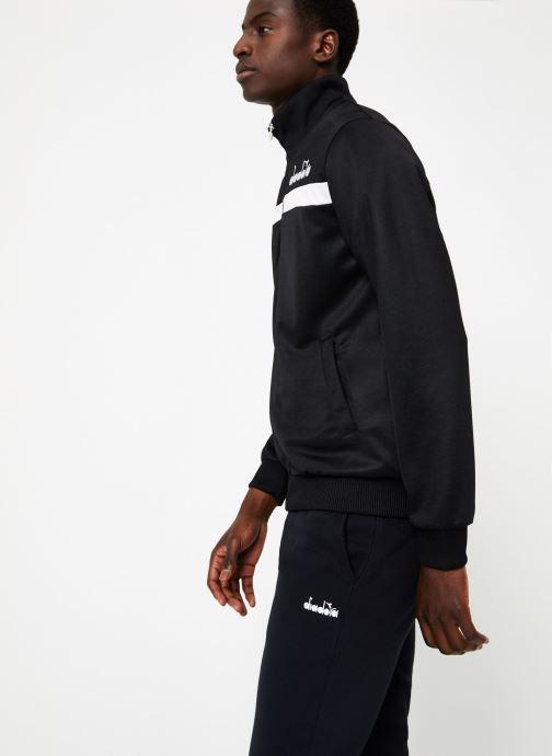 Vêtements Diadora Track Jacket 5Palle Noir vue droite