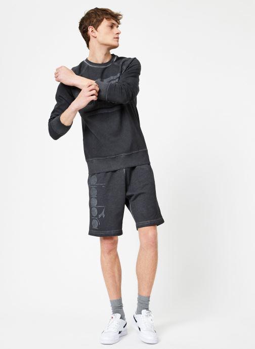 Vêtements Diadora Sweatshirt Crew Spectra Used Noir vue bas / vue portée sac