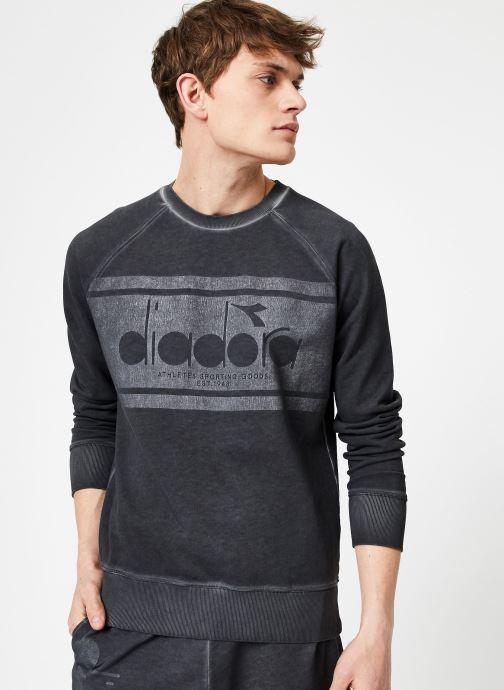 Vêtements Diadora Sweatshirt Crew Spectra Used Noir vue droite