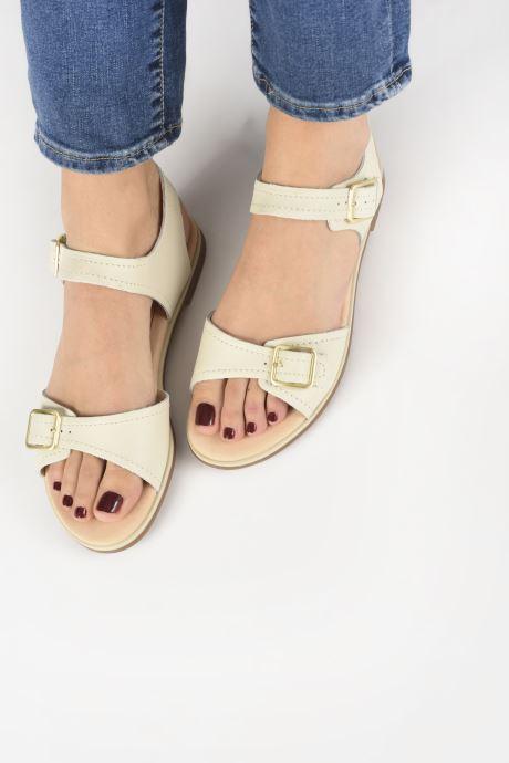 Sandales et nu-pieds Clarks BAY PRIMROSE Blanc vue bas / vue portée sac