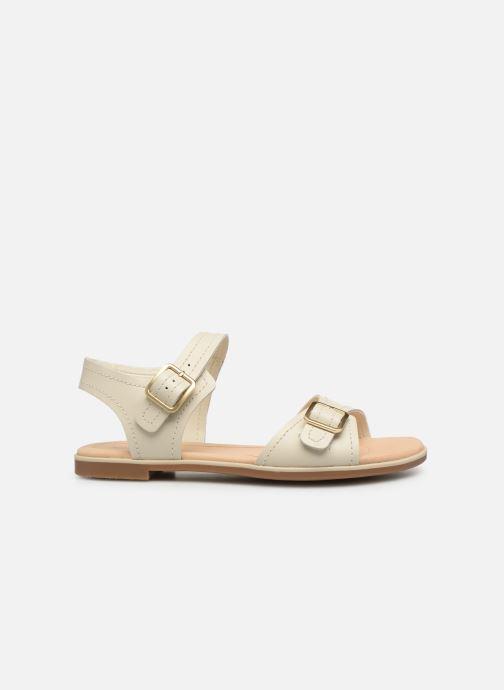 Sandali e scarpe aperte Clarks BAY PRIMROSE Bianco immagine posteriore