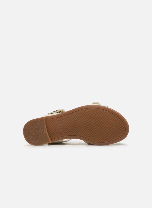 Sandali e scarpe aperte Clarks BAY PRIMROSE Bianco immagine dall'alto
