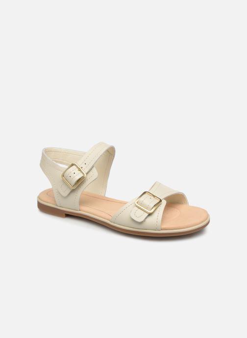 Sandales et nu-pieds Clarks BAY PRIMROSE Blanc vue détail/paire