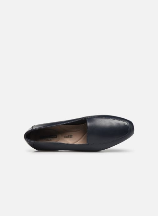 Loafers Clarks JULIET LORA Blue view from the left
