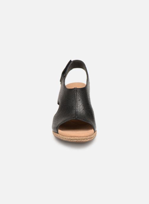 Sandales et nu-pieds Clarks LAFLEY ROSEN Noir vue portées chaussures