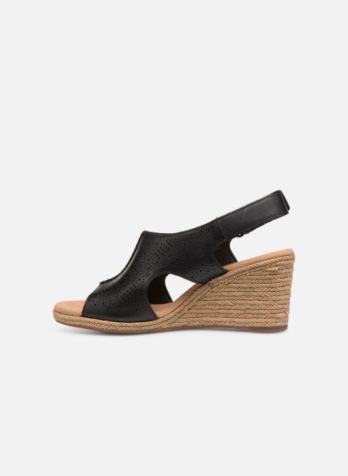 Sandales et nu-pieds Clarks LAFLEY ROSEN Noir vue face