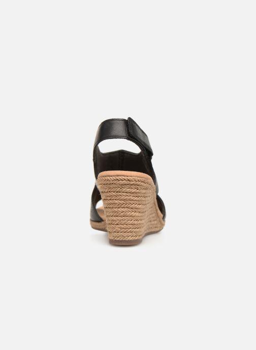 Sandales et nu-pieds Clarks LAFLEY ROSEN Noir vue droite