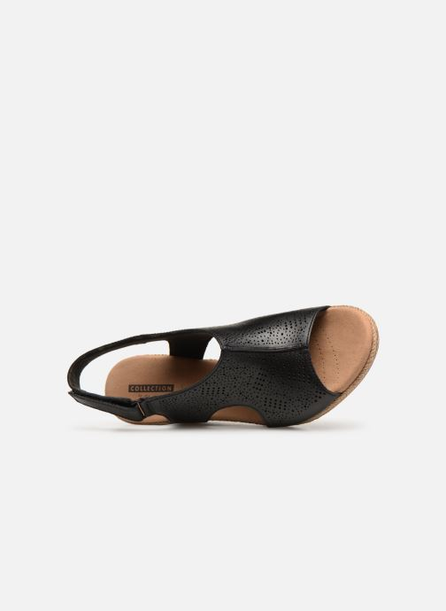 Sandales et nu-pieds Clarks LAFLEY ROSEN Noir vue gauche