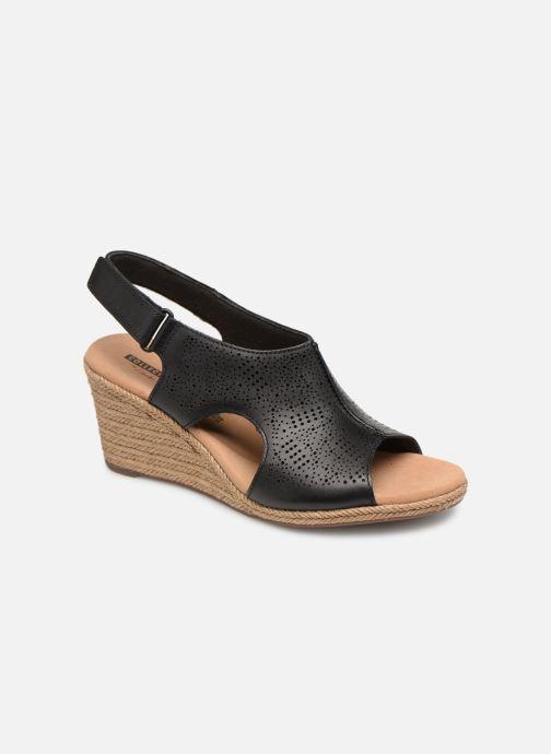 Sandaler Clarks LAFLEY ROSEN Sort detaljeret billede af skoene