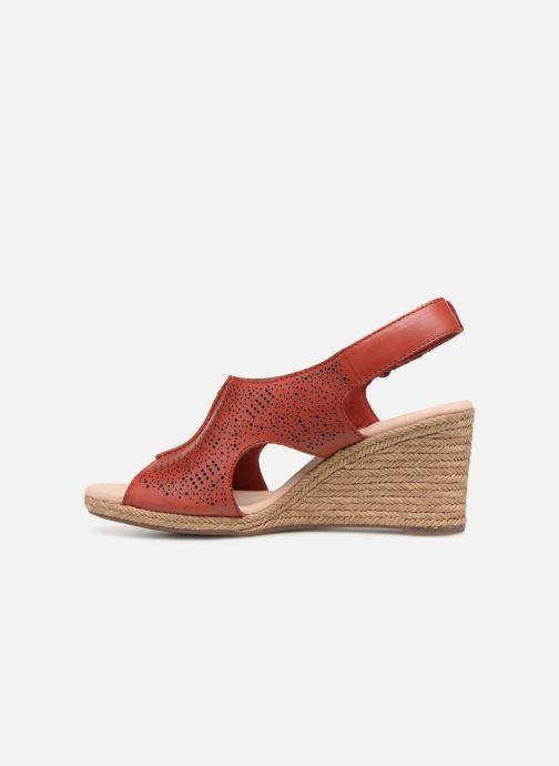 Sandales et nu-pieds Clarks LAFLEY ROSEN Bordeaux vue face