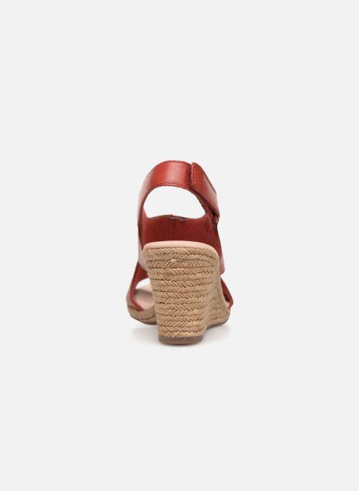 Sandales et nu-pieds Clarks LAFLEY ROSEN Bordeaux vue droite