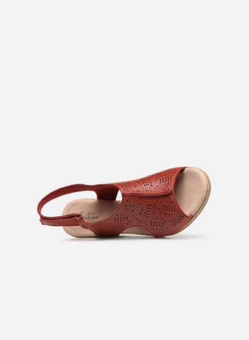 Sandales et nu-pieds Clarks LAFLEY ROSEN Bordeaux vue gauche