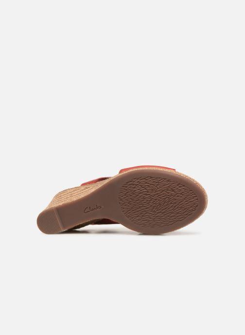 Sandales et nu-pieds Clarks LAFLEY ROSEN Bordeaux vue haut