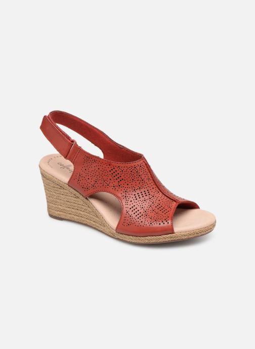 Sandales et nu-pieds Clarks LAFLEY ROSEN Bordeaux vue détail/paire