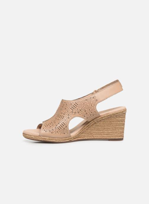 Sandales et nu-pieds Clarks LAFLEY ROSEN Beige vue face