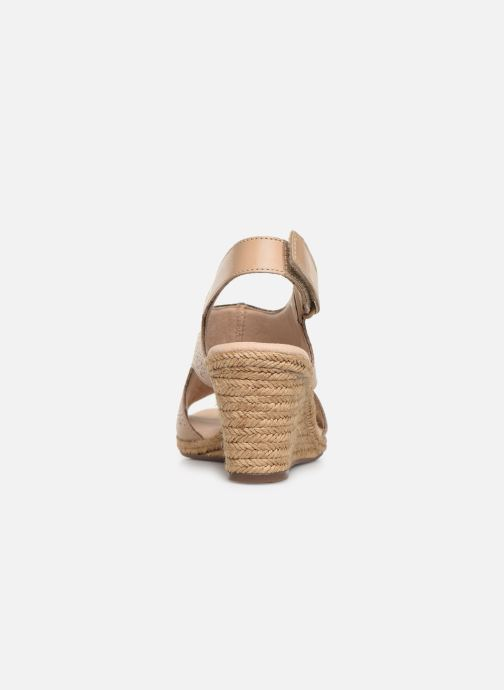 Sandals Clarks LAFLEY ROSEN Beige view from the right