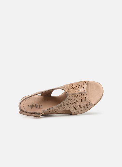 Sandales et nu-pieds Clarks LAFLEY ROSEN Beige vue gauche