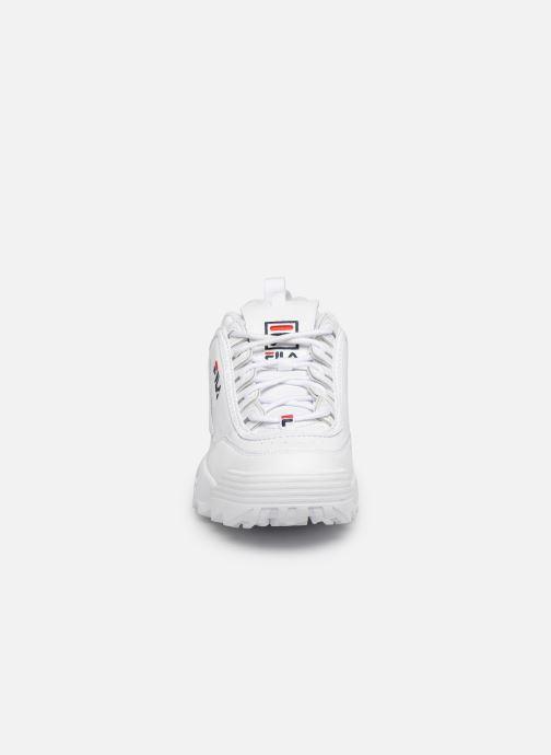 Baskets FILA Disruptor Low M Blanc vue portées chaussures