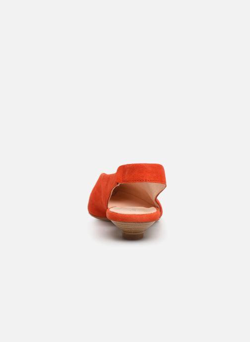 Zapatos de tacón Georgia Rose Amalfia Naranja vista lateral derecha