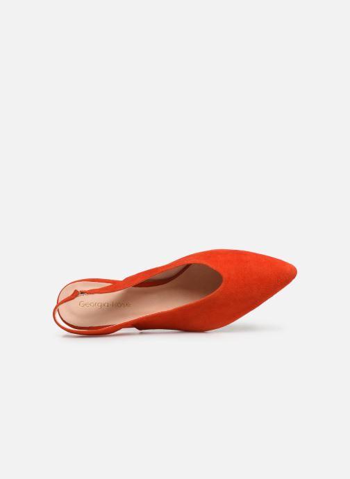 Zapatos de tacón Georgia Rose Amalfia Naranja vista lateral izquierda