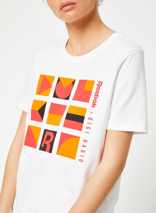 Vêtements Reebok Gigi Tshirt Blanc vue face